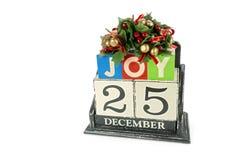 Calendario de la Navidad Fotos de archivo libres de regalías