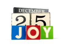 Calendario de la Navidad Foto de archivo libre de regalías