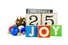 Calendario de la Navidad Imagenes de archivo