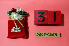 Calendario de la Navidad por Año Nuevo Fotos de archivo libres de regalías
