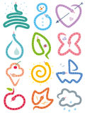 Calendario de las serpientes stock de ilustración