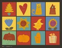 Calendario de los caracteres del color de Scrapbooking Foto de archivo libre de regalías