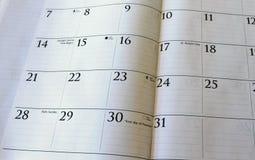 Calendario de marzo Fotos de archivo
