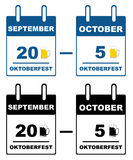 Calendario de Oktoberfest Fotos de archivo