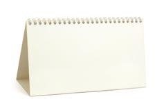 Calendario de papel del escritorio Fotografía de archivo
