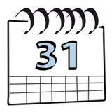Calendario de pared stock de ilustración