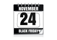 Calendario de pared de Black Friday 2017 stock de ilustración