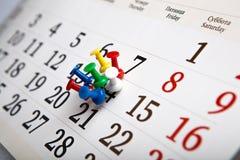 Calendario de pared grande con las agujas Fotografía de archivo libre de regalías