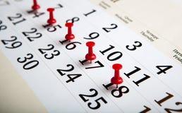 Calendario de pared grande con las agujas Imagen de archivo
