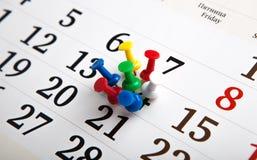 Calendario de pared grande con las agujas Fotos de archivo libres de regalías