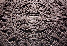 Calendario de piedra azteca Foto de archivo