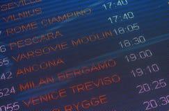 Calendario de salidas Imagenes de archivo