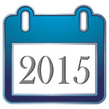 Calendario de 2015 textos en el fondo blanco Fotos de archivo