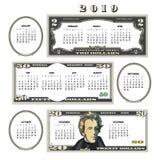 calendario 2019 dei soldi, ideale per qualsiasi affare royalty illustrazione gratis
