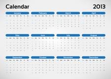 Calendario del año 2013 ilustración del vector