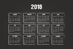 Calendario del año 2016 Imagen de archivo