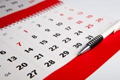 Calendario del año Imágenes de archivo libres de regalías