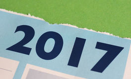 Calendario del año 2017 Fotos de archivo