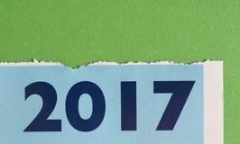 Calendario del año 2017 Foto de archivo