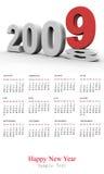 Calendario del Año Nuevo 2009 ilustración del vector