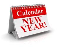Calendario del Año Nuevo Imágenes de archivo libres de regalías