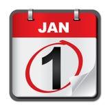 Calendario del Año Nuevo Imagen de archivo
