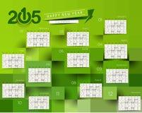 Calendario del Año Nuevo 2015 Fotos de archivo
