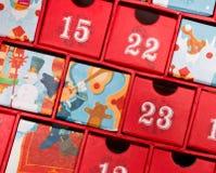 Calendario del advenimiento Imagen de archivo