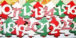 Calendario del advenimiento Fotografía de archivo libre de regalías