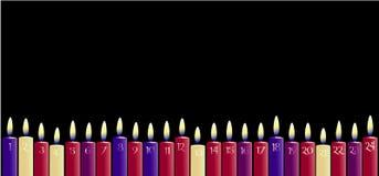Calendario del advenimiento Imágenes de archivo libres de regalías