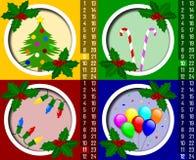 Calendario del advenimiento de la Navidad [3] Imágenes de archivo libres de regalías