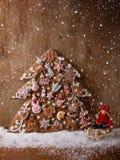 Calendario del advenimiento de las galletas del pan de jengibre Fotografía de archivo