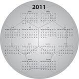 Calendario del balón de fútbol Imágenes de archivo libres de regalías