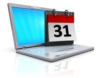 Calendario del calcolatore Immagine Stock Libera da Diritti