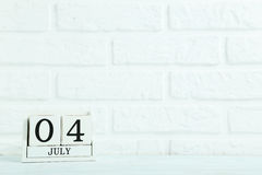 Calendario del cubo Fotos de archivo