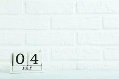 Calendario del cubo Fotografie Stock