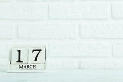 Calendario del cubo Fotografía de archivo