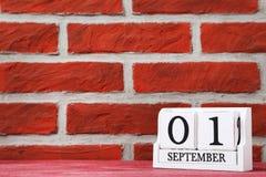 Calendario del cubo Imagenes de archivo
