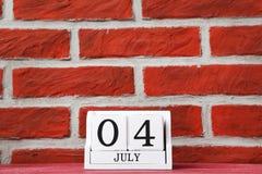Calendario del cubo Fotografia Stock Libera da Diritti