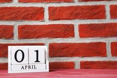 Calendario del cubo Foto de archivo libre de regalías