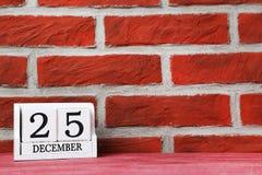 Calendario del cubo Immagine Stock