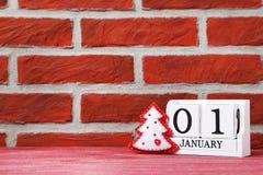 Calendario del cubo Immagine Stock Libera da Diritti