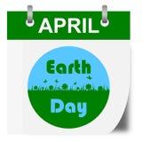 Calendario del Día de la Tierra - ejemplo Fotografía de archivo
