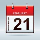 Calendario del día de los presidentes Fotos de archivo libres de regalías
