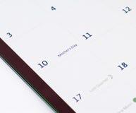 Calendario del día de madres Fotos de archivo libres de regalías