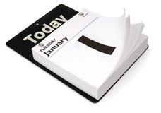 Calendario del día Foto de archivo libre de regalías