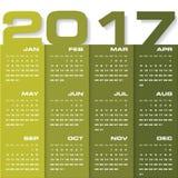 Calendario del diseño moderno plantilla del diseño del vector de 2017 años 12 soportes a partir de enero-diciembre de 2017 Fotos de archivo