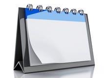 calendario del espacio en blanco 3d Imágenes de archivo libres de regalías