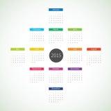 Calendario del extracto 2015 Imagen de archivo