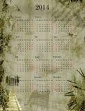 Calendario 2014 del Grunge Fotografía de archivo libre de regalías